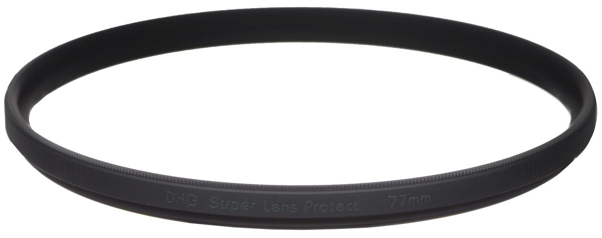 Marumi DHG Super Lens Protect защитный светофильтр (77 мм)DHG Super Lens ProtectСветофильтр Marumi DHG Super Lens Protect относится к последнему поколению высококлассных защитных светофильтров для цифровой фототехники. Он имеет специальное двухстороннее просветление, устраняющее ультрафиолетовые лучи, и улучшающее при этом качество изображения. Также светофильтр Marumi DHG Super Lens Protect отсекает инфракрасные лучи, вредные для матрицы цифровой камеры, значительно продлевая срок ее службы.Просветление DHG Super имеет очень прочный наружный защитный слой, который защищает фильтр от истирания и царапин, а также обладает водоотталкивающим и грязеотталкивающим эффектом. Любые загрязнения на светофильтре очень легко удаляются при помощи салфетки. Светофильтры Marumi DHG Super Lens Protect имеют также антистатическую защиту.Светофильтры Marumi DHG Super Lens Protect изготовлены из сверхтонкого и прочного оптического стекла, закрепленного через герметичную прокладку, тонкая оправа позволяет использовать сверх широкоугольные объективы. Оправа светофильтра покрыта специальным нитридным чернением, что сводит к нулю любые внутренние переотражения. Резьба светофильтров серии DHG Super имеет тефлоновое покрытие.