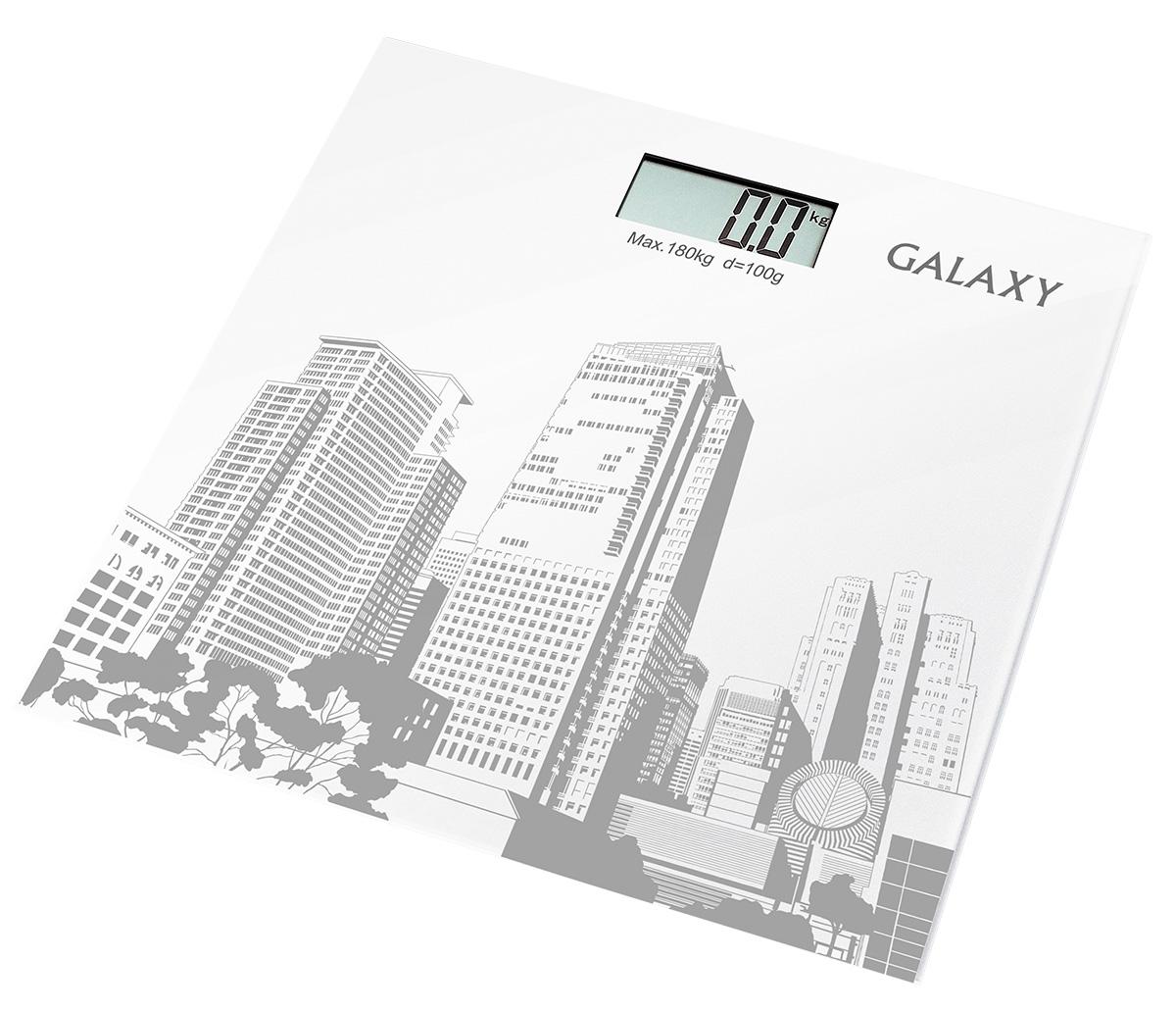 Galaxy GL4803 весы напольные4630003362605Электронные весы Galaxy GL4803 разработаны специально для тех, кто следит за своим здоровьем и физической формой. Стильный дизайн, ультратонкий корпус, большой дисплей! Сверхточная сенсорная система датчиковПлатформа из высокопрочного стеклаЖидкокристаллический дисплей с подсветкойИндикация перегрузкиИндикация низкого уровня заряда элементов питанияПрорезиненные ножки