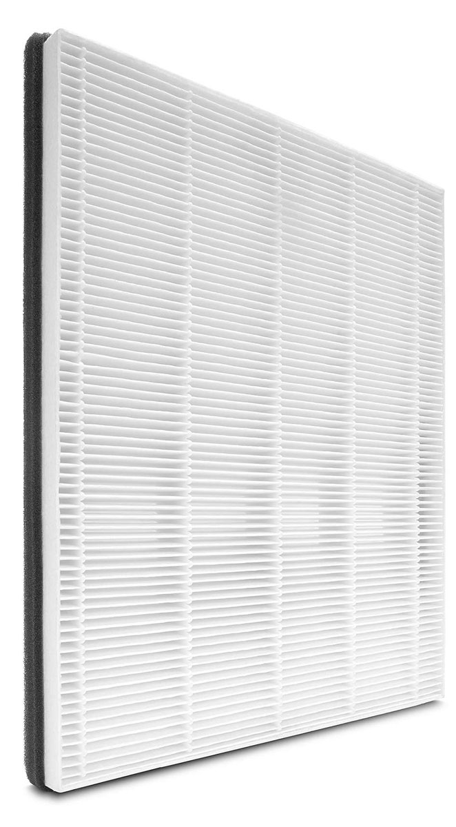 Philips FY1114/10 нано-фильтрFY1114/10Оповещения системы контроля качества воздуха: Функция оповещений системы контроля качества воздуха своевременно предупреждает о том, что требуется заменить фильтр. Если замена загрязненного фильтра не была проведена своевременно, устройство перестает работать, так как очистка воздуха не выполняется. Теперь воздух в вашем доме всегда будет свежим. Высокоэффективная фильтрация: Поверхность фильтра раскрывается до 1,17 м2 для высокоэффективной фильтрации. Уменьшает количество аллергенов и предотвращает возникновение симптомов аллергии.Очищение и защита на наноуровне: Фильтр с защитой на наноуровне эффективно удаляет мельчайшие загрязнения размером до 0,02 мкм, в том числе мелкую пыль, пыльцу, пылевых клещей, бактерии и некоторые виды вирусов. Поверхность фильтра раскрывается до 1,17 м2 для высокоэффективной фильтрации. Уменьшает количество аллергенов и предотвращает возникновение симптомов аллергии.Простая установка фильтра: Извлеките фильтр Philips FY1114/10 из упаковки и замените старый фильтр в приборе, затем нажмите кнопку сброса на дисплее.Протестировано IUTA. По данным отчета за 2008 год об оценке микробиологического риска Всемирной организации здравоохранения (ВОЗ) размеры вирусов птичьего гриппа, человеческого гриппа, возбудителя легионеллеза, гепатита и атипичной пневмонии превышают 20 нанометров (0,02 мкм).