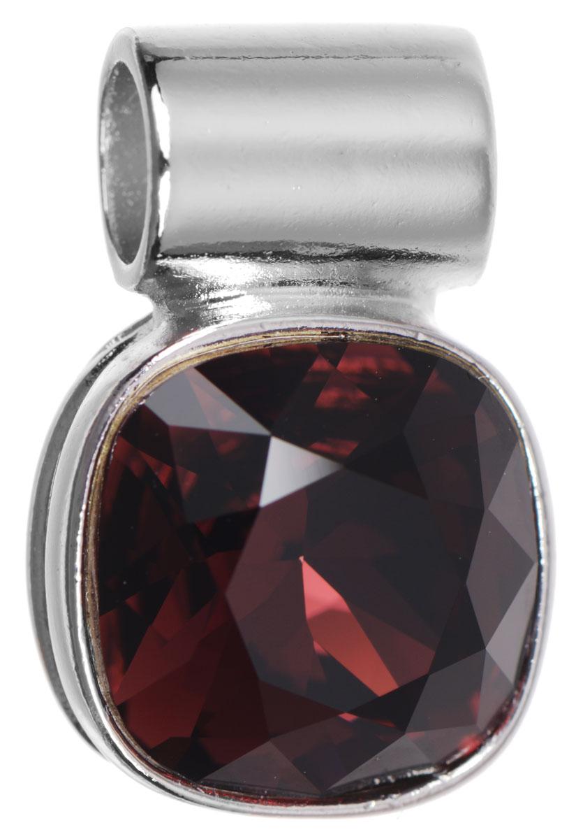Подвеска Jenavi Неопра, цвет: серебряный, бордовый. k282f31639890|Колье (короткие одноярусные бусы)Подвеска Jenavi Неопра выполнена из гипоаллергенного ювелирного сплава, оформлена покрытием из серебра и родия. Подвеска дополнена граненым кристаллом Swarovski.Изделие имеет отверстие, которое позволит использовать шнур или цепочку любого диаметра.Подвеска Jenavi Неопра поможет дополнить любой образ и привнести в него завершающий яркий штрих.