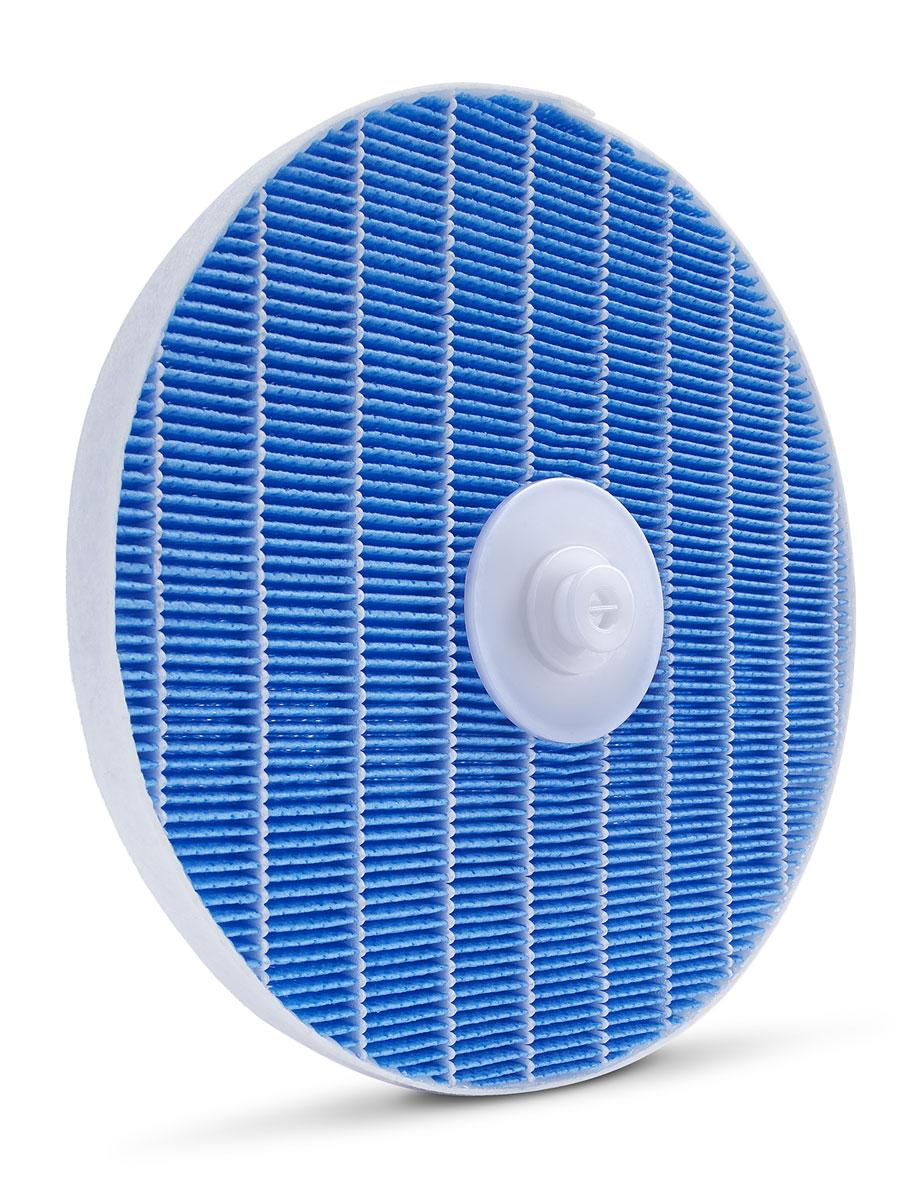 Philips FY5156/10 увлажняющий фильтрFY5156/10Простота очистки: Продуманный дизайн Philips FY5156/10 упрощает очистку и уход за увлажняющим фильтром: просто снимите диск с фильтром с крепления и промойте увлажняющий фильтр под струей воды.Оповещения системы контроля качества воздуха:Функция оповещений системы контроля качества воздуха своевременно предупреждает о том, что требуется заменить увлажняющий фильтр. Если замена загрязненного фильтра не была проведена, устройство перестает работать. Вращающийся увлажняющий фильтр не останавливается в воде, он перестает вращаться при отсутствии воды или при достижении предварительно установленного уровня влажности. При этом вентилятор продолжит вращаться в режиме очистителя, высушивая увлажняющий фильтр. Воздух в вашем доме всегда будет свежим.Никакой белой пыли и влажных пятен: Благодаря технологии Philips NanoCloud прибор распыляет частицы мелкодисперсного водяного пара, поэтому в комнате не образуются белая пыль и влажные пятна.Превосходное увлажнение NanoCloud:Тройная защита от бактерий и плесени. Гигиеничность и безопасность технологии Philips NanoCloud подтверждена сертификатом. Доказанная эффективность: на 99 % меньше бактерий в воздухе по сравнению с ультразвуковыми увлажнителями. Эта технология защищает ваше здоровье в долгосрочной перспективе, обеспечивая чистый воздух, практически полностью очищенный от патогенных организмов и плесени.Протестировано на наличие бактерий Staphylococcus Albus и фага MS2, антибактериальные свойства протестированы в соответствии с GB21551.3 с использованием Staphylococcus Albus с исходной концентрацией 1х105 кое/м3.