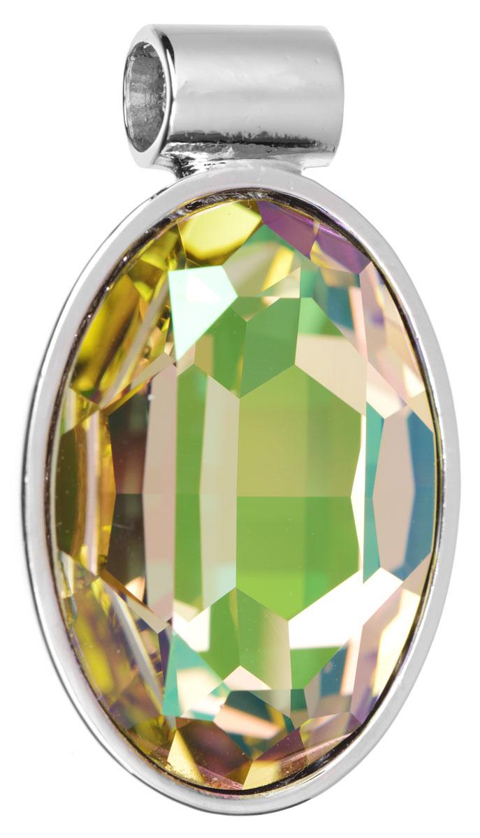 Подвеска Jenavi Рютур, цвет: серебряный, желтый. k285f323Брошь-кулонПодвеска Jenavi Рютур выполнена из гипоаллергенного ювелирного сплава, оформлена покрытием из серебра и родия. Подвеска овальной формы дополнена граненым кристаллом Swarovski.Изделие имеет отверстие, которое позволит использовать шнур или цепочку любого диаметра.Подвеска Jenavi Рютур поможет дополнить любой образ и привнести в него завершающий яркий штрих.