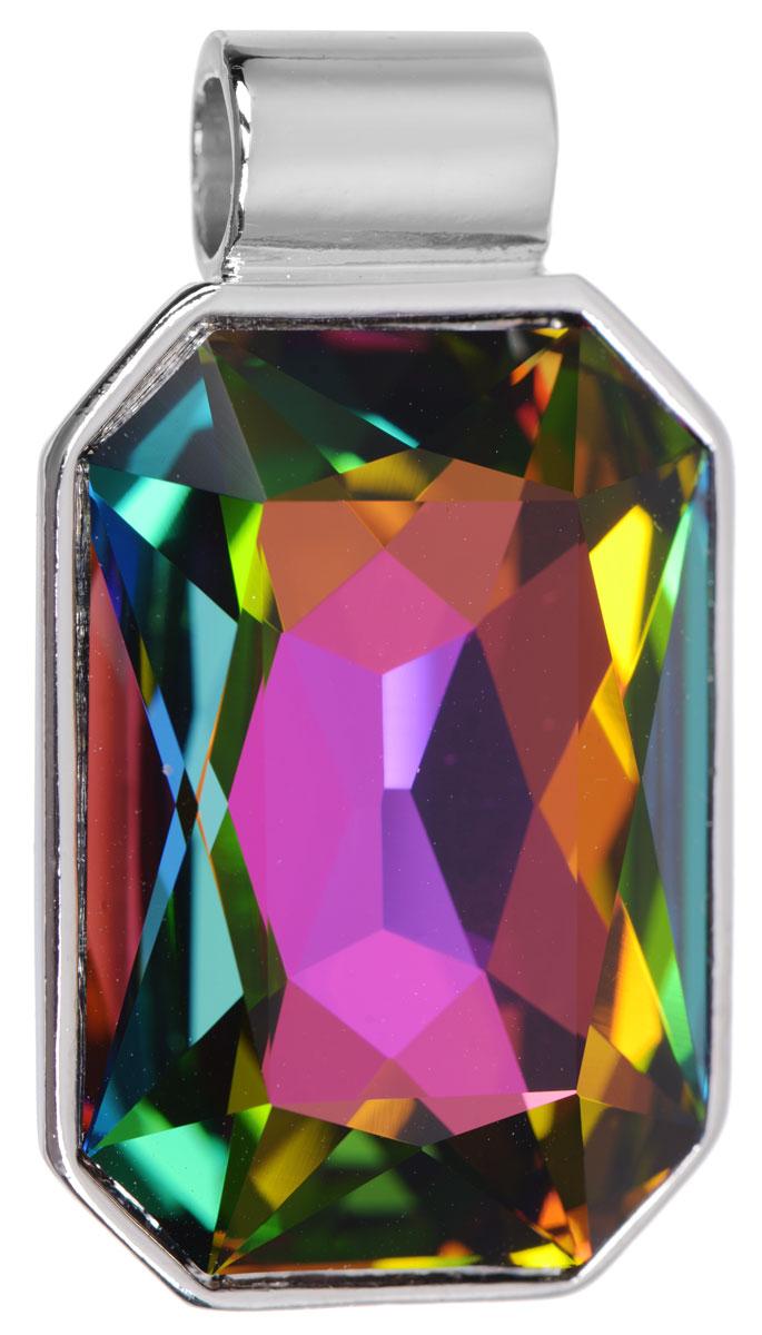 Подвеска Jenavi Арлата, цвет: серебряный, мультиколор. k287f370pokka-4322-20-1Подвеска Jenavi Арлата выполнена из гипоаллергенного ювелирного сплава, оформлена покрытием из серебра и родия. Подвеска восьмиугольной формы дополнена граненым кристаллом Swarovski.Изделие имеет отверстие, которое позволит использовать шнур или цепочку любого диаметра.Подвеска Jenavi Арлата поможет дополнить любой образ и привнести в него завершающий яркий штрих.