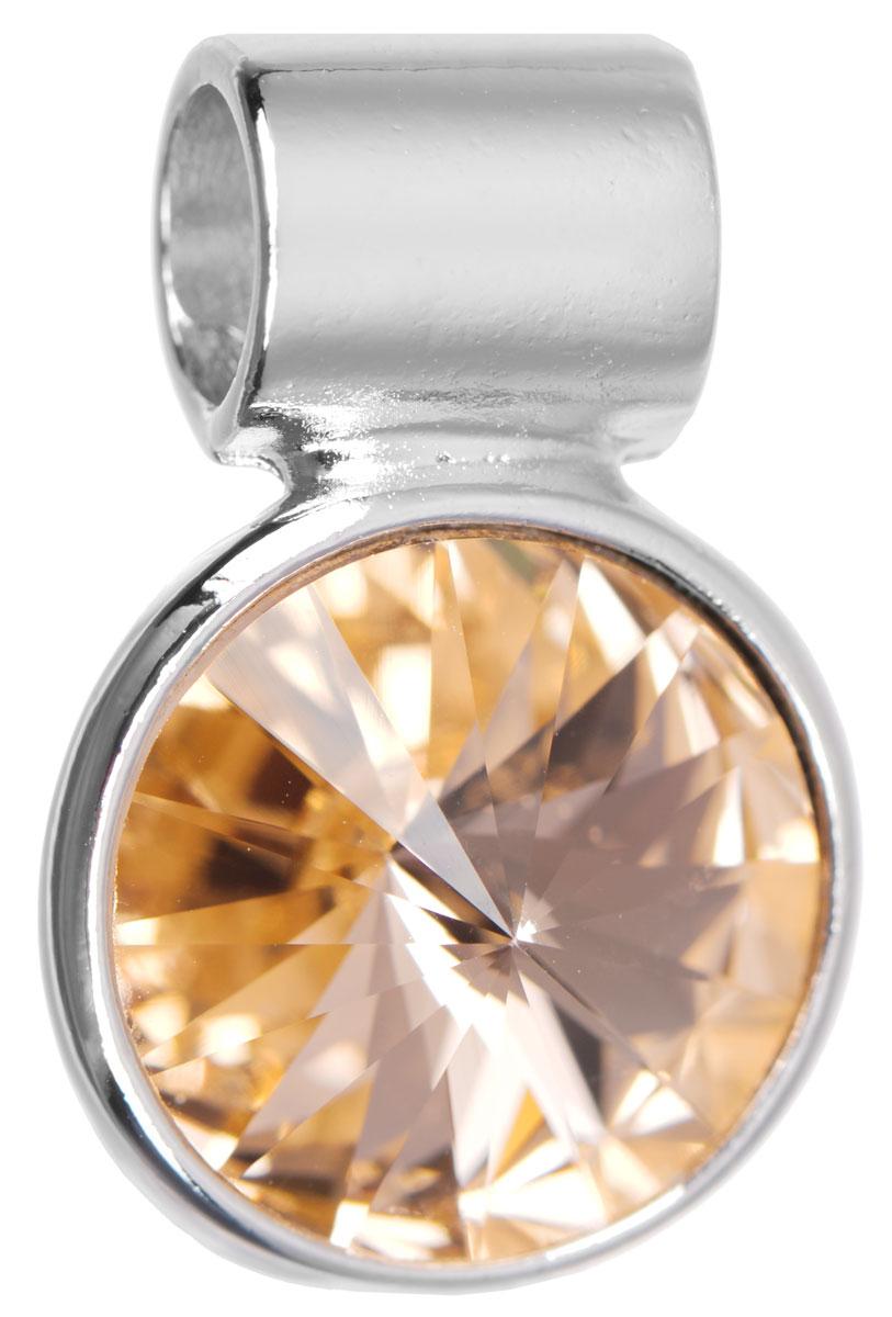 Подвеска Jenavi Цивасар, цвет: серебряный, оранжевый. k288f312АромакулонПодвеска Jenavi Цивасар выполнена из гипоаллергенного ювелирного сплава, оформлена покрытием из серебра и родия. Подвеска круглой формы дополнена граненым кристаллом Swarovski.Изделие имеет отверстие, которое позволит использовать шнур или цепочку любого диаметра.Подвеска Jenavi Цивасар поможет дополнить любой образ и привнести в него завершающий яркий штрих.