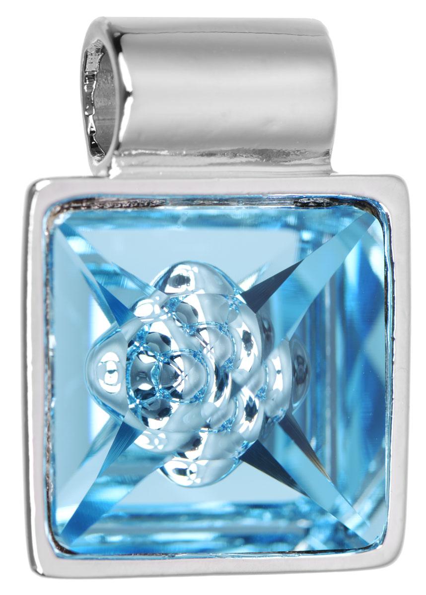 Подвеска Jenavi Досиера, цвет: серебряный, голубой. k269f340АромакулонПодвеска Jenavi Досиера выполнена из гипоаллергенного ювелирного сплава, оформлена покрытием из серебра и родия. Подвеска квадратной формы дополнена граненым кристаллом Swarovski, внутри которого расположен оригинальный декоративный элемент.Изделие имеет отверстие, которое позволит использовать шнур или цепочку любого диаметра.Подвеска Jenavi Досиера поможет дополнить любой образ и привнести в него завершающий яркий штрих.