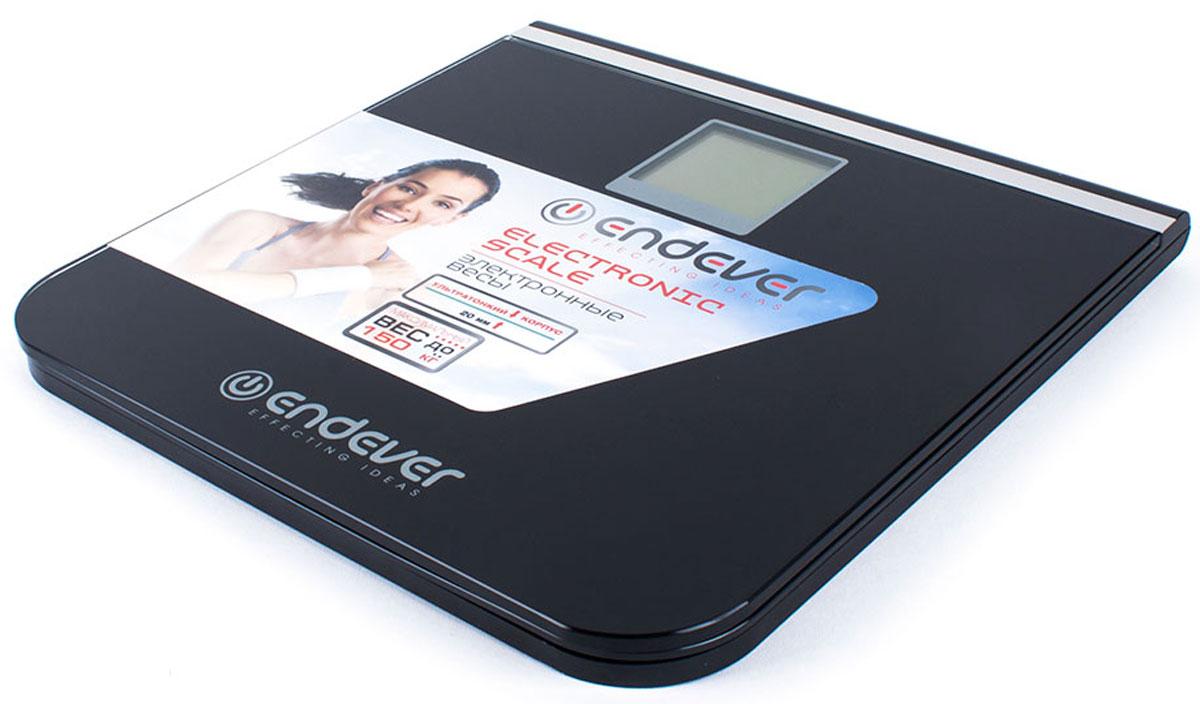 Endever 540-FS весы напольныеFS-540Электронные весы Endever 540-FS – это высококачественный прибор, в котором применены новейшие технологии в области использования безопасных для здоровья материалов и компонентов.Напольные электронные весы Endever 540-FS – неотъемлемый атрибут здорового образа жизни. Они необходимы тем, кто следит за своим здоровьем, весом, ведет активный образ жизни, занимается спортом и фитнесом. Очень удобны для будущих мам, постоянно контролирующих прибавку в весе, также рекомендуются родителям, внимательно следящим за весом своих детей. Включение одним нажатиемLCD-дисплей с подсветкойЭлектронная система балансировкиВысокоточные сенсорные датчикиИндикатор низкого заряда батареи Индикатор перегрузки