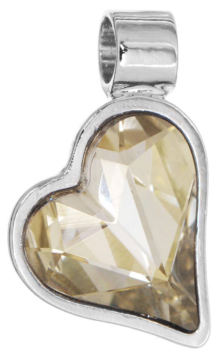 Подвеска Jenavi Зилба, цвет: серебряный, серый. k256f366АромакулонОригинальная подвеска Jenavi Зилба выполнена из гипоаллергенного ювелирного сплава, оформлена покрытием из серебра и родия. Подвеска в форме сердца дополнена граненым кристаллом Swarovski.Изделие имеет отверстие, которое позволит использовать шнур или цепочку любого диаметра.Подвеска Jenavi Зилба поможет дополнить любой образ и привнести в него завершающий яркий штрих.