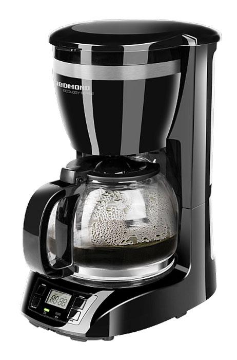 Redmond RCM-1510 кофеваркаRCM-1510Кофеварка Redmond RCM-1510 – новый чудо-прибор, позволяющий легко приготовить кофе, чай и травяной отвар. Взгляните на этот элегантный строгий дизайн – он так и манит выпить еще одну чашечку бесподобного кофе.Кофеварка Redmond RCM-1510 является совершенным высокотехнологичным устройством – функции Антикапля и Автоподогрев, программируемый таймер, защита от перегрева, автоотключение и, что крайне важно – съемный многоразовый фильтр.Redmond RCM-1510 имеет вместительный кувшин и резервуар для воды (1,5 л). Кувшин выполнен из надежного термостойкого стекла. Четкий ЖК-дисплей и возможность использования бумажных фильтров идеально дополняют функциональность аппарата. Вы будете очарованы каждой каплей потрясающего кофе!Объем кувшина: 1,5 лВозможность использования бумажных фильтровАвтоподогрев: 40 минОтсрочка приготовления до 24 часовДлина электрошнура: 0,9 м