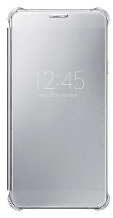 Samsung EF-ZA710C Clear View Cover чехол для Galaxy A7 (2016), Silver