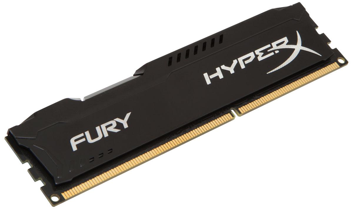Kingston HyperX Fury DDR3 8GB 1600 МГц, Black модуль оперативной памяти (HX316C10FB/8)HX316C10FB/8Модуль памяти Kingston HyperX FURY DDR3 автоматически разгоняется до максимальной заявленной частоты, а простота иавтоматическая конфигурируемость позволяют быстрее включаться в игру и мгновенно выходить на высочайшие скорости, необходимые для победы. Благодаря низкому напряжению (от 1,35 В) потребляется меньше энергии и выделяется меньше тепла, при этом поддерживаются новые чипсеты Intel 100 Series. Ассиметричный и агрессивный дизайн модуля, а также высококачественный алюминий и граненая отделка позволят вам выделиться среди стандартных квадратных конструкций.