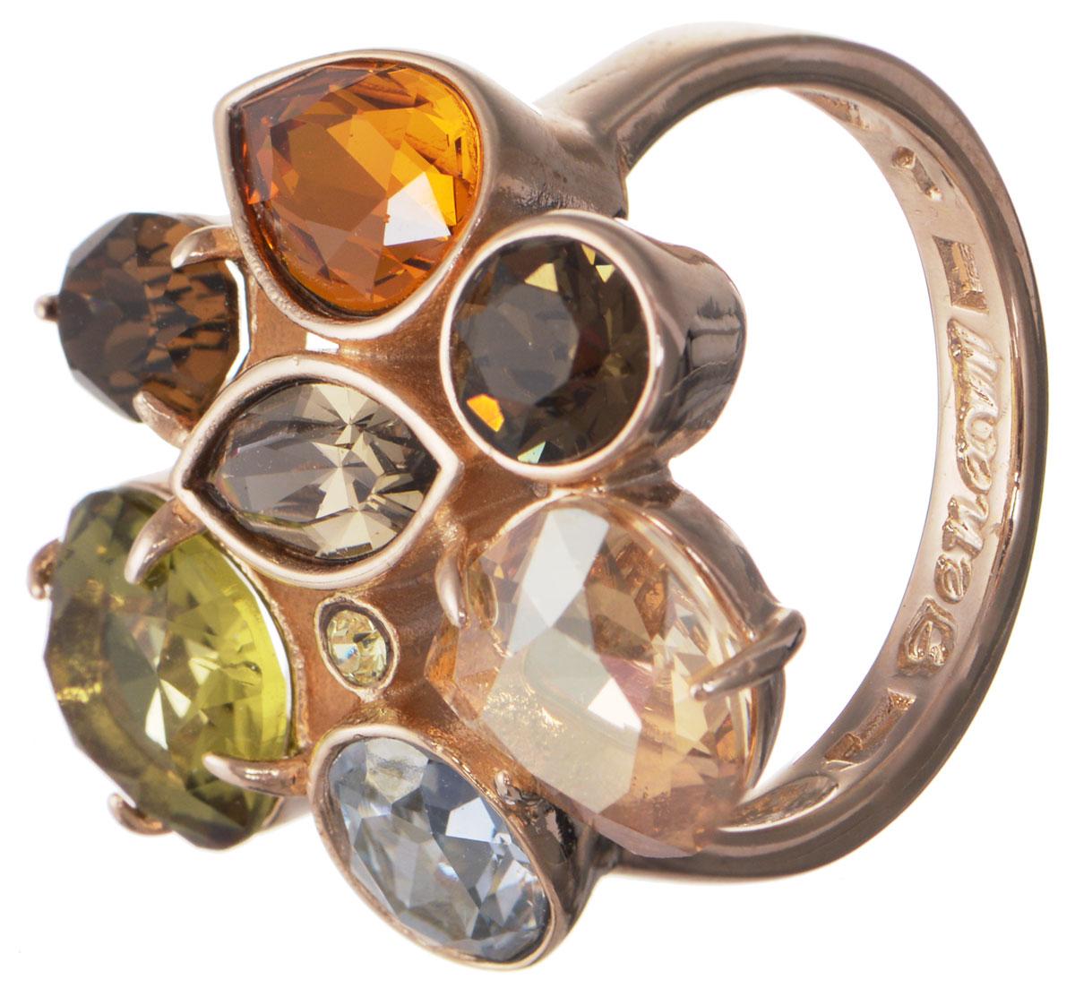 Кольцо Jenavi Гламур, цвет: золотой, мультиколор. h195p070. Размер 21Коктейльное кольцоКольцо современного дизайна Jenavi Гламур изготовлено из гипоаллергенного ювелирного сплава с покрытием из золота. Дополняют кольцо граненые кристаллы Swarovski разнообразные по своим формам.Стильное кольцо придаст вашему образу изюминку и подчеркнет индивидуальность.