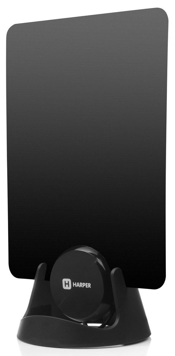 Harper ADVB-1209 ТВ-антеннаH00000512Плоская телевизионная антенна Harper ADVB-1209принимает цифровые Full HD и аналоговые телевизионные сигналы. Подключается напрямую к телевизору, после подключения готова к работе, не требует настройки. Конструкция из высокотехнологичных материалов. Чтобы обеспечить простую установку в любом месте, в комплект входят 2 наклейки и основание антенны. В комплекте предусмотрен 3 м коаксиальный кабель для удобного размещения антенны. Частотный диапазон: 470-862 МГцДиапазон: UHFУсиление: 20 дБСопротивление: 75 ОмКоэффициент шума: 3 дБДлина кабеля: 3 м