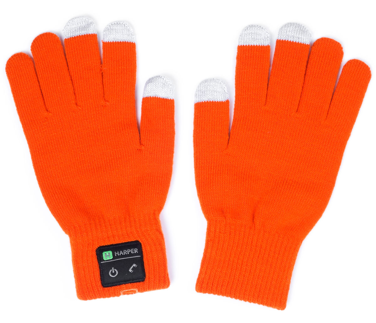 Harper HB-502, Orange перчатки с Bluetooth-гарнитуройH00000920Перчатки Harper HB-502 с Bluetooth-гарнитурой. В основе используется качественный материал, состоящий из акрила - 84%, спандекса - 10%, полиэстра - 6%. Аккуратная пряжа, шерсть не раздражает руки, без посторонних запахов. Неплохо согревают в зимнее время. В перчатках можно управлять устройством, не снимая их. Динамик расположен в большом пальце левой перчатки, а микрофон в мизинце. Модуль с двумя механическими кнопками (включение и ответ на вызов) находится на боковой части. Для того чтобы не пропустить входящий вызов, в конструкции корпуса предусмотрена вибрация.Размер: M