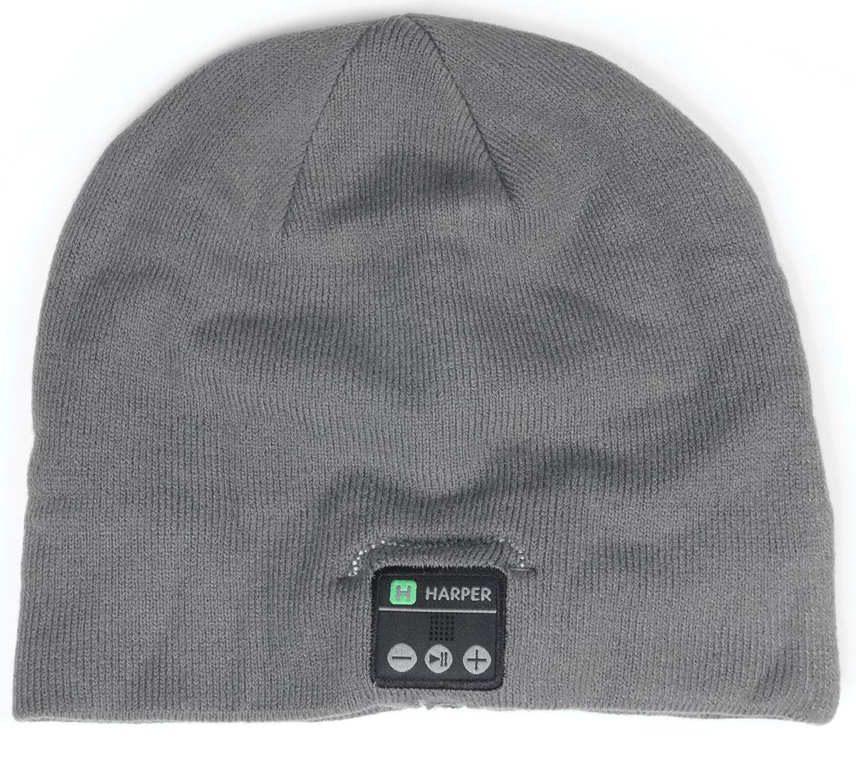 Harper HB-505, Gray шапка с Bluetooth-гарнитуройH00000926Шапка Harper HB-505 с Bluetooth-гарнитурой. Идея совмещения гарнитуры и шапки реализована с вниманием к деталям. В головной убор на местах, где находятся уши пользователя, вшиты наушники. В основе используется материал, состоящий из акрила - 84%, спандекса - 10%, полиэстера - 6%. Вязка не раздражает при длительной носке. Внутри подкладки зафиксирован основной модуль и дополнительный динамик. Соединяются они между собой кабелем, скрывающимся во внутреннем стежке. Все активные элементы на правом наушнике.