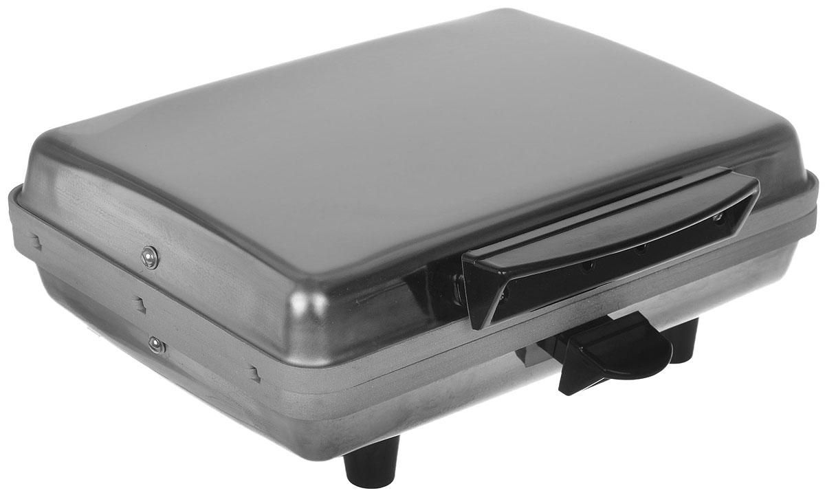 Лакомка ЭВ-0.8 вафельницаЭВ-0.8Вафельница Лакомка ЭВ-0.8 предназначена для выпекания вафель, трубочек с кремом и других сладостей в домашних условиях. Пользоваться прибором необычайно просто: в соответствии с выбранным рецептом готовится тесто, затем вафельница включается в электрическую сеть. Все, что остается - налить необходимое количество теста и дождаться завершения приготовления ароматных вафель!Большая толщина плит нагрева обеспечивает стабильную температуру процесса выпечки. Автоматическое поддержание температуры поверхности жарочных плит обеспечивается встроенным терморегулятором. Вафельница оборудована двойной системой защиты от перегрева в случае повышения напряжения в сети или возникновения другой нештатной ситуации.Вилка стандартная (под евро), неразбираемая.