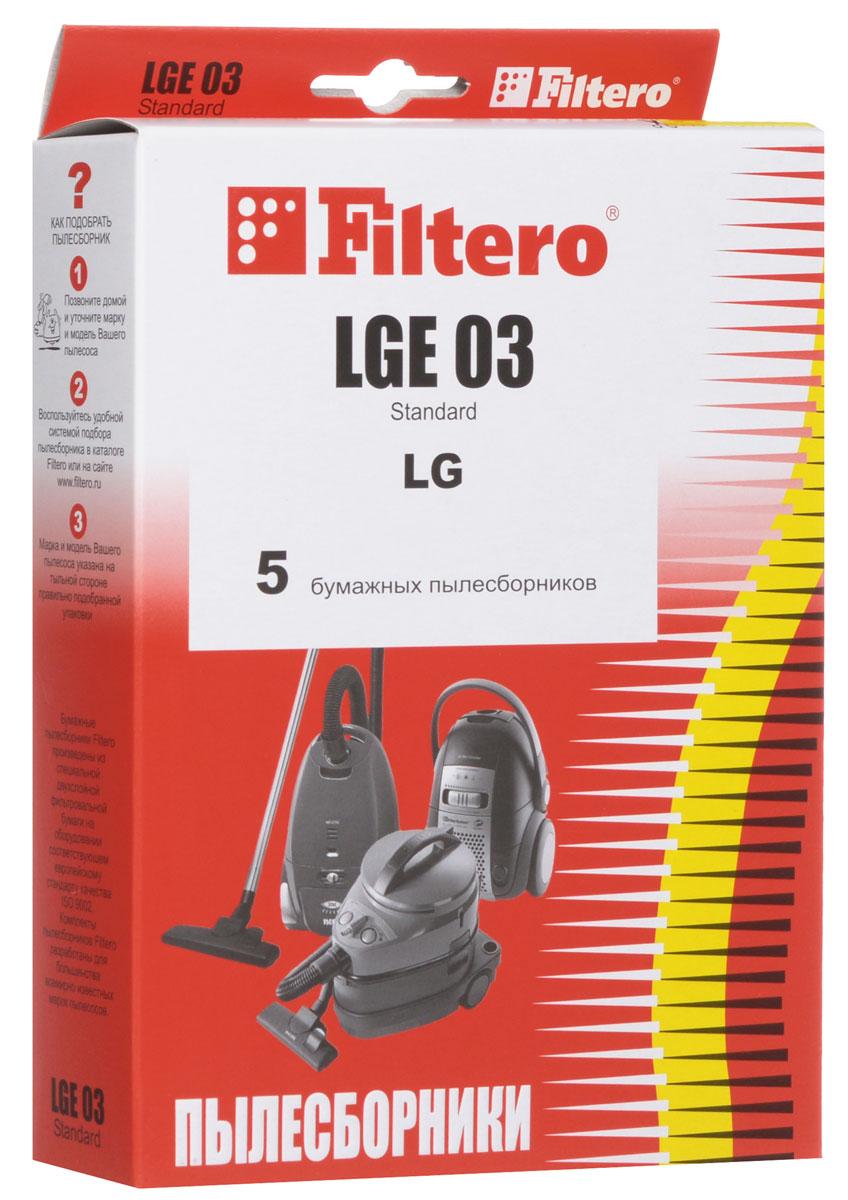 Filtero LGE 03 Standard пылесборник (5 шт)LGE 03 (5) StandardОдноразовые бумажные мешки для пылесосов Filtero LGE 03 Standard сделаны из высококачественной многослойной фильтровальной бумаги, которая пропускает воздух, но задерживает даже самые маленькие частицы пыли.Бумажные мешки для пылесосов защищают двигатель от основного потока пыли, а, следовательно, и от перегрева вследствие засорения и преждевременного износа. Они предназначены для одноразового использования и прекрасно подходят для уборки в больших помещениях.Пылесборники подходят для следующих моделей пылесосов:LGV 36...V 37...V 38...например: V 3811 DVV 42...V 44...V 58...V-C 26...V-C 29... Turbo StormV-C 30... Storm Extraнапример: V-C 3032 RB Storm ExtraV-C 36... Turbo StormV-C 40... TurboV-C 41… Turbo GammaV-C 42... MagicV-C 44...V-C 4A5..V-C 4B5..V-C 57... Turbo MaxV-C 58... Turbo MaxV-C 61... MagicV-C 62...V-C 65...V-C 70…V-C 71...например: V-C 7113 HV-C 86...V-CP 54... Turbo GammaV-CP 55... Turbo GammaV-CP 56... Turbo GammaV-CQ 57…CLATRONICBS 1217, BS 1237ROLSENT 2241 P, T 2242 T