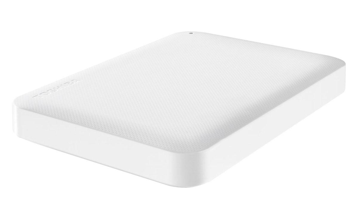 Toshiba Canvio Ready 1TB, White внешний жесткий диск (HDTP210EW3AA)HDTP210EW3AAВнешний жесткий диск Toshiba Canvio Ready отличается высокими показателями по быстроте деятельности. Практически в течение считанных мгновений у вас появятся доступы к интересующим информационным данным. Такой результат достигается за счет эффективности действия интерфейса USB 3.0.Теперь вы сможете вести запись данных на скорости, равной 5 Гбит/с, что позволит копировать большие файлы в кратчайшие сроки. Обратная совместимость с интерфейсом USB 2.0 гарантирует стабильную работу с оборудованием предыдущего поколения: при помощи Canvio Ready удобно переносить информацию со старого компьютера на новый.Пропускная способность интерфейса: 5 Гбит/сек Поддержка ОС: Windows 10, Windows 8, Windows 7