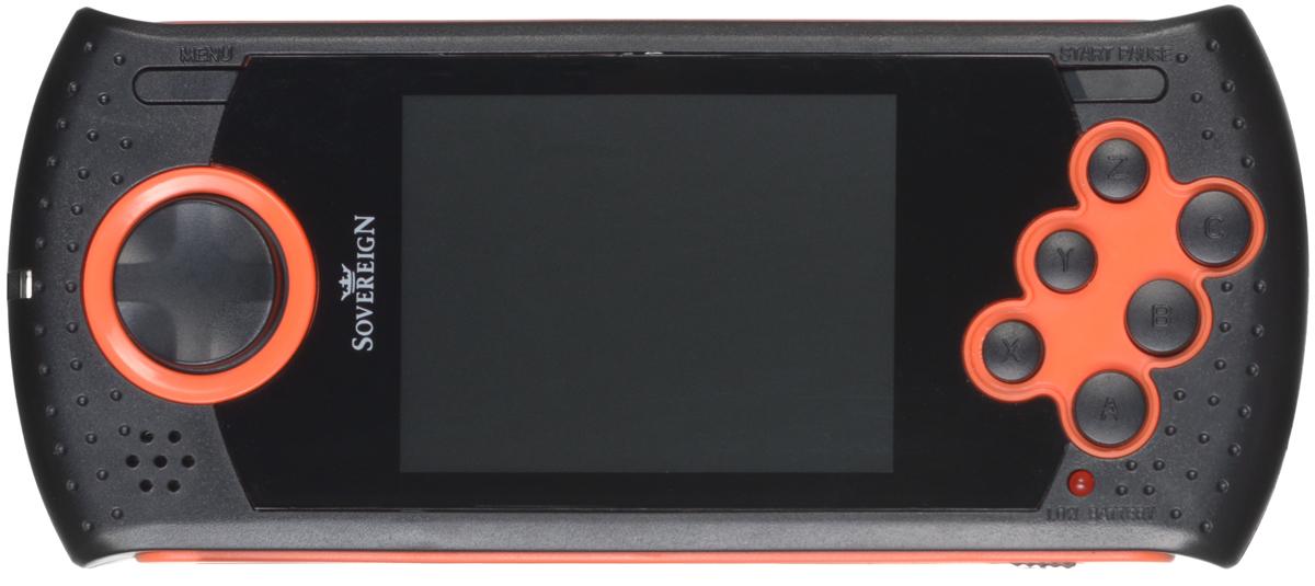 Портативная игровая система DVTech Sovereign 16 бит, черно-оранжеваяKF6-00012DVTech Sovereign - это современная портативная консоль формата 16-bit, имеет 20 встроенных игр разных жанров. В качестве носителя информации используется карта памяти SD (в комплект не входит), на которую можно самостоятельно записывать ромы игр Sega. Это позволит иметь всегда под рукой большую библиотеку игр, собранных по вашему вкусу. Технические характеристики:Процессор:16-битный. Экран: 2,8 дюйма.AV-выход. Регулировка звука. Питание: Li-Ion аккумулятор. Слот для SD - карты.