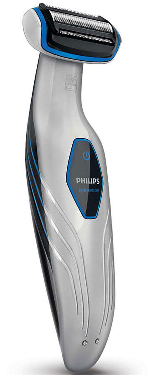 Philips BG2028/15 триммер для телаBG2028/15Создайте ваш собственный стиль! Триммер для тела Philips BodyGroom Plus BG2028 позволяет брить и подравнивать волосы на теле ниже шеи. Безопасное бритье и подравнивание волос даже на труднодоступных участках.Прибор безопасно использовать на таких участках, как подмышки, грудь и живот, спина и плечи, область паха и ноги.Комфортное и безопасное бритье на любых участках тела в одно движение.Подравнивайте волосы и брейтесь с комфортом, ведь вы можете выбрать сухое или влажное бритье. Для очистки прибора достаточно промыть его под струей воды.Аккумулятор обеспечивает 50 минут работы после зарядки в течение 8 часов.Простое и безопасное подравнивание волос на теле. 3 гребня позволяют выбрать длину 3, 5 и 7 мм.Гипоаллергенный металл бритвенной сетки и запатентованные закругленные кончики предотвращают раздражение кожи и гарантируют максимальный комфорт.Когда аккумулятор полностью заряжен, индикатор светится зеленым светом, а мигающий оранжевый индикатор сообщает о том, что заряда хватит на 10 минут работы.Занимает очень мало места, чтобы вы могли заряжать прибор там, где вам удобно, или взять его с собой в поездку.