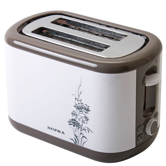 Supra TTS-355 тостерTTS-355Supra TTS-355 - стильный тостер, расчитанный на приготовления двух тостов одновременно. Он легок в управлении, функционален и никогда не подведет, а тосты из него получаются равномерно прожаренные, золотистые и хрустящие.