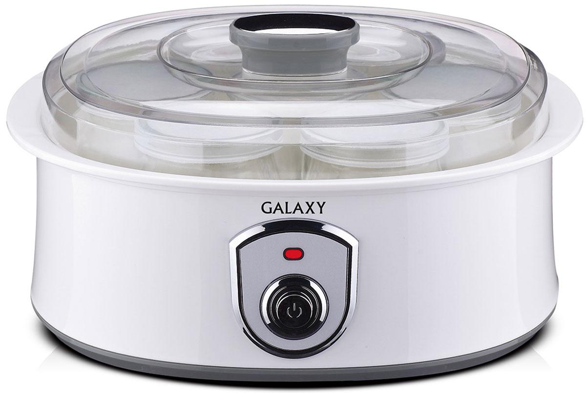 Galaxy GL 2690 йогуртница4650067301532Йогуртница Galaxy GL 2690 приготовит для вас полезное лакомство, содержащее живую йогуртовую культуру без консервантов,ароматизаторов и красителей. Приготовление домашнего йогурта позволяет дать волю фантазии в выборе наполнителей и получить натуральный и полезный продукт для вашей семьи!Объем баночки: 200 мл.Материал баночек: стекло.