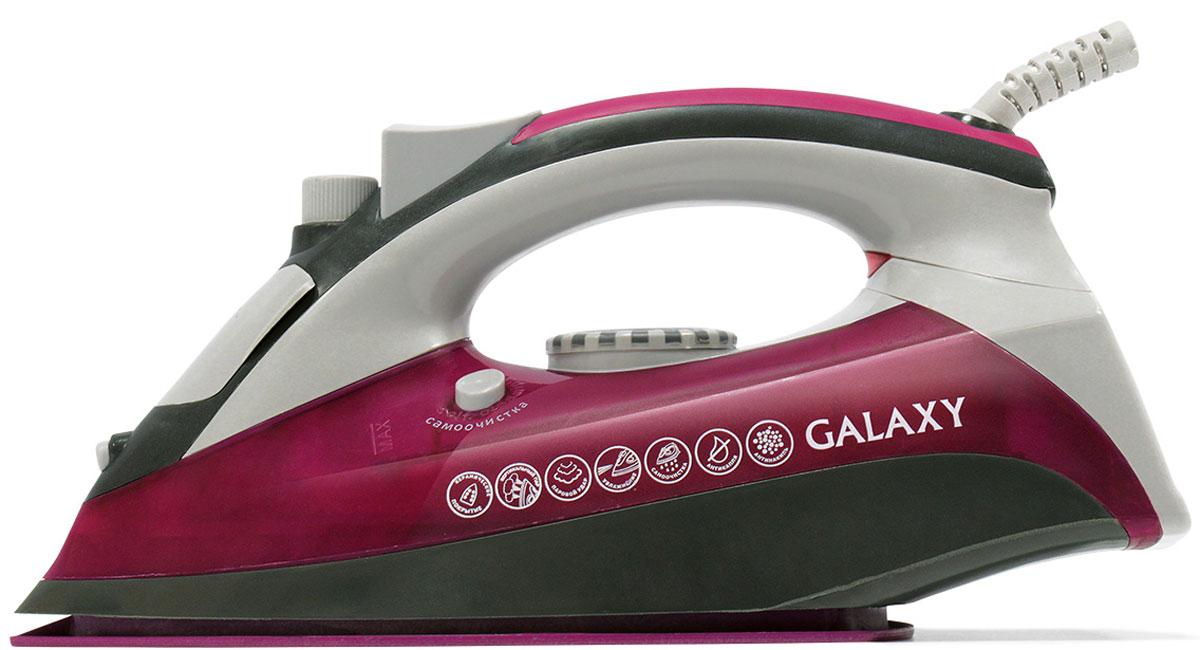 Galaxy GL 6120 утюг4630003367068Современные бытовые приборы, предназначенные для ухода за одеждой, радуют нас своими поистине безграничными возможностями. Ультрагладкая подошва утюга Galaxy GL 6120 из нержавеющей стали с керамическим покрытием обеспечивает идеальное скольжение.Силиконовый уплотнитель крышки резервуараИндикатор уровня водыИндикатор нагрева