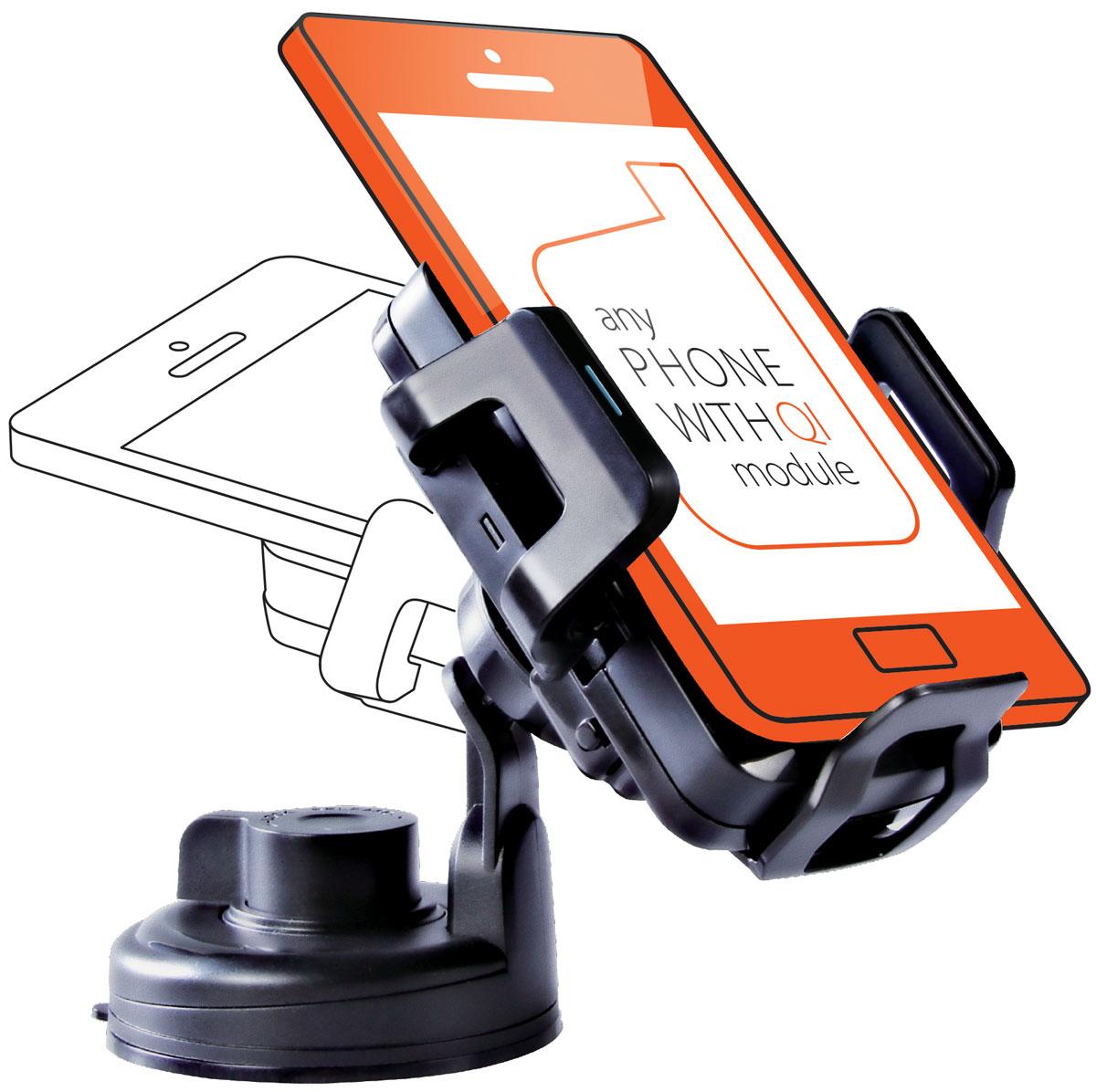 UPVEL UQ-TA01 Stingray, Black автомобильное беспроводное зарядное устройство стандарта QiUQ-TA01 STINGRAYЗабудьте о вечно занятых руках, разряженных аккумуляторах и о нервных поисках закатившегося под сиденье смартфона!Беспроводное зарядное устройство UPVEL UQ-TA01 специально разработано для использования в салоне автомобиля. Регулируемые крепления позволяют разместить смартфон точно в центре для максимальной эффективности заряда и не дадут ему упасть.Различные варианты крепления зарядного устройства в салоне и поворотная зарядная панель помогут расположить смартфон максимально удобно и надёжно.Монтируется на присоске либо на вентиляционной решеткеПодходит для большинства мобильных устройств с диагональю до 5 дюймовСовместим со всеми модулями беспроводной зарядки стандарта QiЭффективность: 500 мАчРасстояние для зарядки: до 5-7 мм