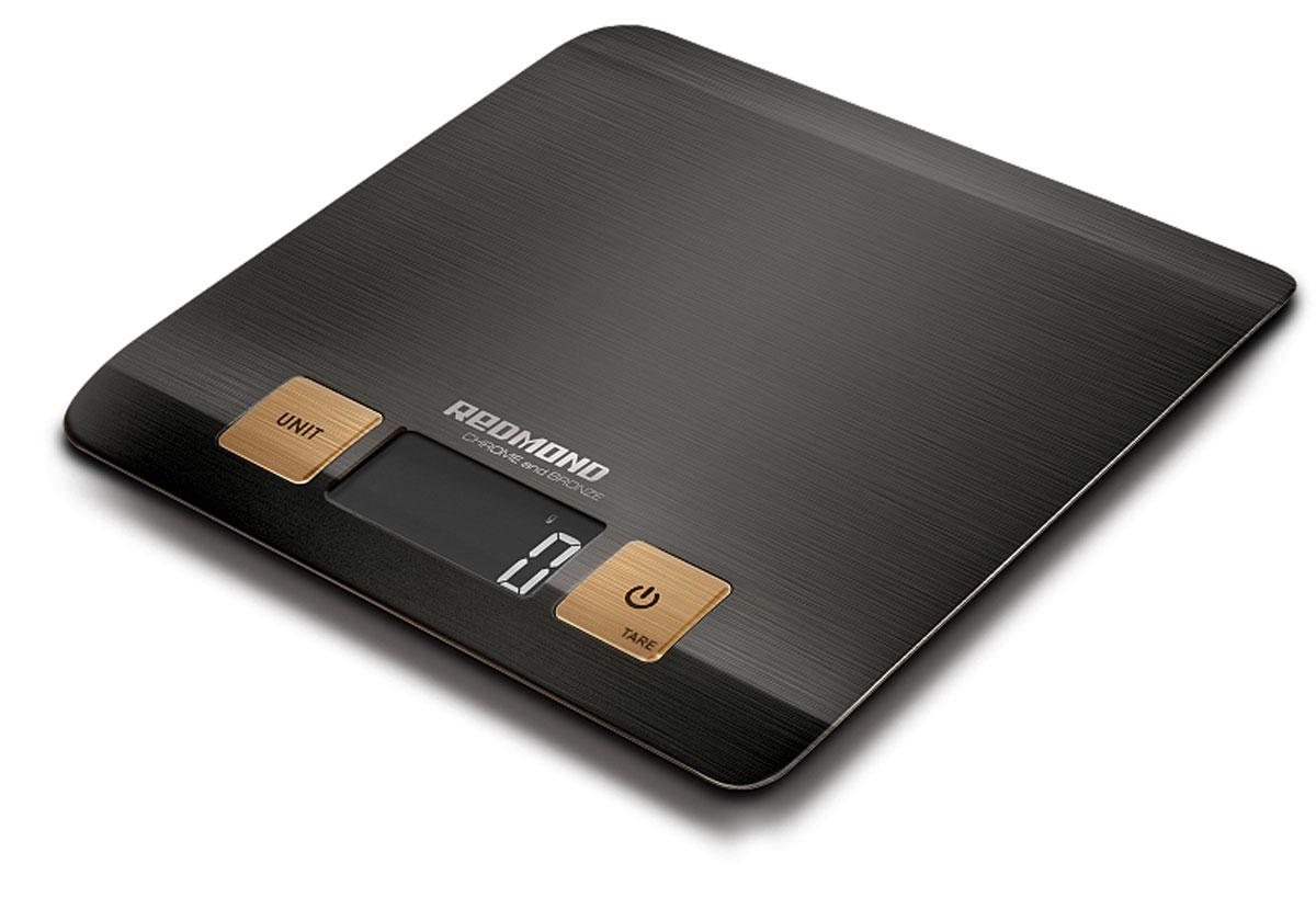 Redmond RS-CBM727 весы кухонныеRS-CBM727Кухонные весы Redmond RS-CBM727 – ультрастильная топовая новинка с впечатляющим сдержанным дизайном и экологичным декором, предназначенная для взвешивания продуктов весом до пяти килограммов. Полезный кухонный прибор, который обязан быть на любой современной кухне.Стоит лишь однажды воспользоваться этими плоскими и сверхточными кухонными весами – и вы в них моментально влюбитесь!Кухонные весы Redmond RS-CBM727 для удобства имеют четыре единицы измерения – это грамм / жидкая унция / фунт / миллилитр. В данной модели притягивает взгляд большой и чёткий ЖК-дисплей с подсветкой, который показывает корректную массу продукта вплоть до одного грамма. Неоспоримыми преимуществами устройства являются такие практичные функции, как автоматическое отключение через одну минуту, вычет веса тары, индикация перегрузки и низкого заряда батареи.Redmond RS-CBM727 представляют собой настоящий маленький шедевр высоких технологий и образец удивительной пользы для любителей готовить. Вы почувствуете себя настоящим шеф-поваром!