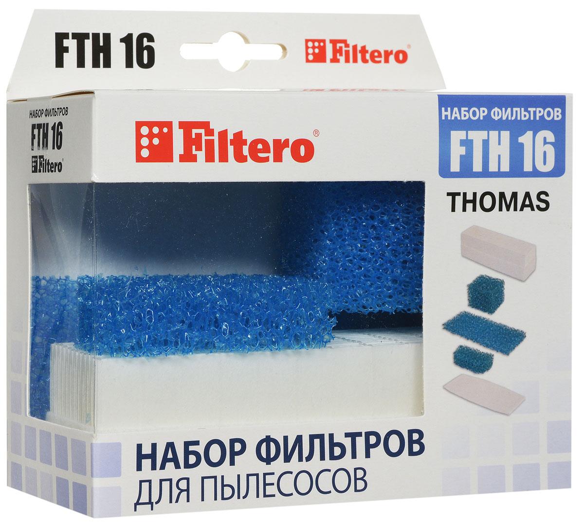 Filtero FTH 16 TMS HEPA-фильтр для ThomasFTH 16 TMS HEPAНабор фильтров Filtero FTH 16 TMS препятствует выходу мельчайших частиц пыли и аллергенов из пылесоса в помещение. Фильтр немоющийся. Он подлежит замене, согласно рекомендации производителя пылесосов - не реже одного раза за 6 месяцев.