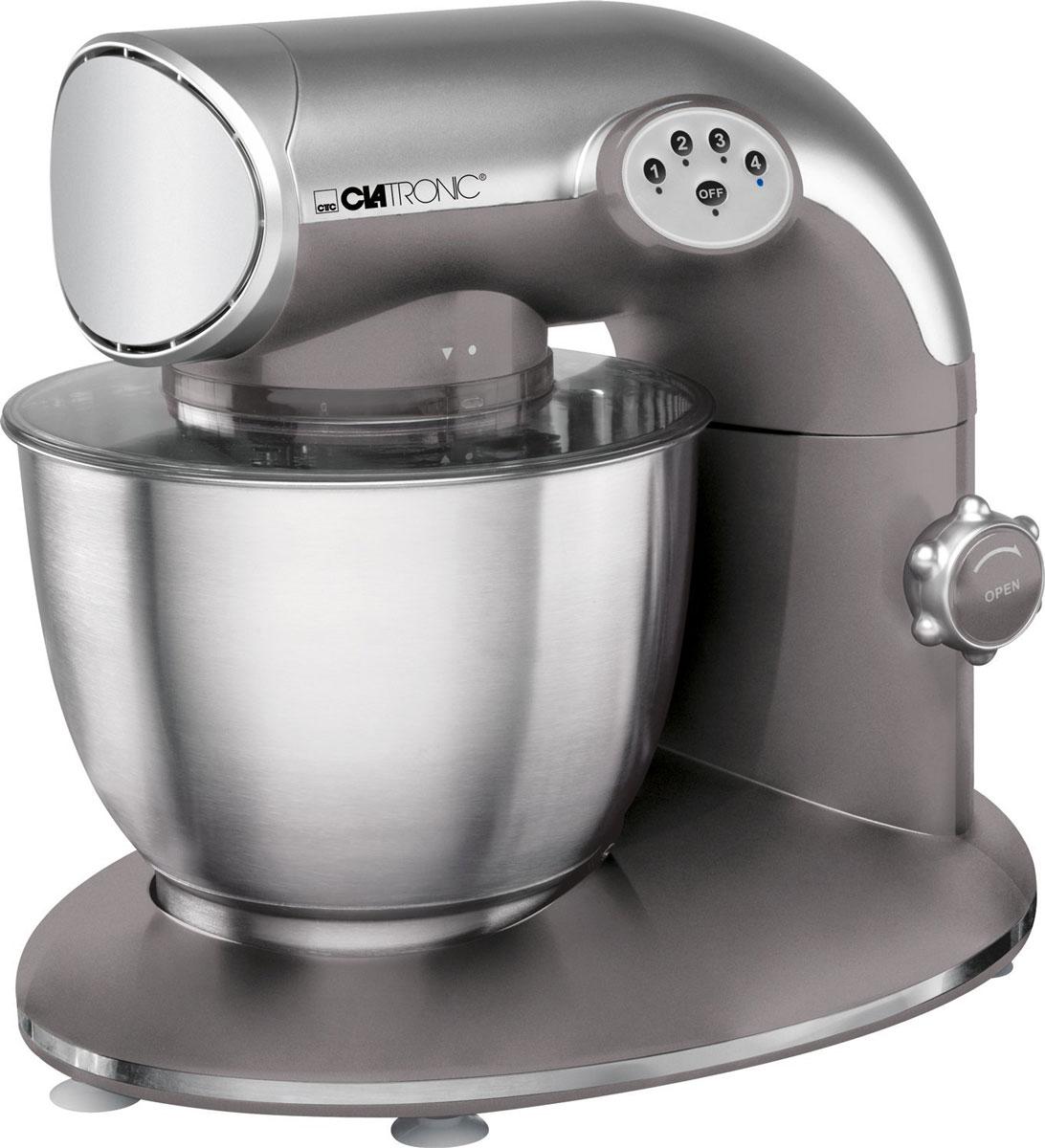 Clatronic KM 3632 Titan, кухонный комбайнKM 3632 titanКухонный комбайн Clatronic KM 3632 станет прекрасным помощником для любой хозяйки С ним вы сможете готовить невероятно вкусные и аппетитные блюда, при этом сократив время их приготовление. Основным назначением прибора является изготовление различных видов теста и кремов. Комбайн качественно и быстро перемешивает различные ингредиенты, что дает возможность избежать комочков.Clatronic KM 3632 снабжен чашей из нержавеющей стали и механической системой управления. 4 скорости замешивания обеспечат наилучший результат.