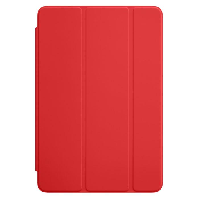 Apple Smart Cover чехол для iPad mini 4, RedMKLY2ZM/AОбложка Apple Smart Cover для iPad mini 4 создана из цельного листа полиуретана, чтобы защищать переднюю панель вашего устройства. Smart Cover автоматически выводит iPad из режима сна при открытии и переводит в режим сна при закрытии. Она складывается различными способами, что позволяет использовать её как подставку для чтения, просмотра фильмов, набора текста или звонков FaceTime. Обложка снимается и надевается очень легко, в любой момент.