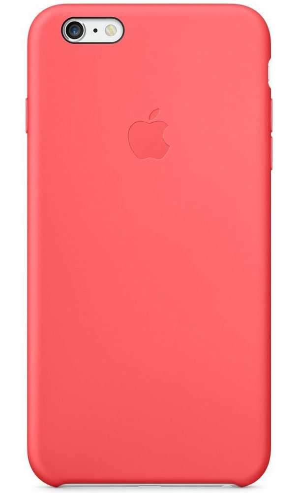 Apple Silicone Case чехол для iPhone 6 Plus, Pink - Чехлы