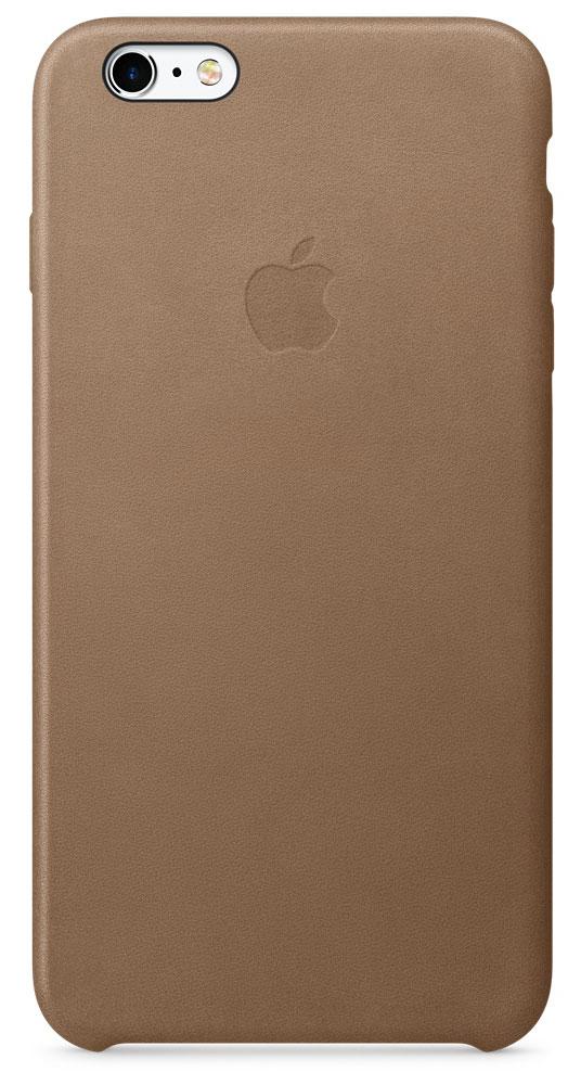 Apple Leather Case чехол для iPhone 6s Plus, BrownMKX92ZM/AApple Leather Case - роскошный чехол, изготовленный из специально обработанной и выделанной кожи европейского производства и спроектированный теми же дизайнерами Apple, которые работали над iPhone. Каждый чехол идеально облегает телефон, поэтому ваш iPhone 6s Plus или iPhone 6 Plus по-прежнему будет выглядеть невероятно тонким. Мягкая внутренняя поверхность чехла, выполненная из микроволокна, защитит корпус вашего iPhone. А его внешняя сторона порадует вас глубоким оттенком: специальная технология окраски позволяет цвету буквально проникать в структуру кожи.