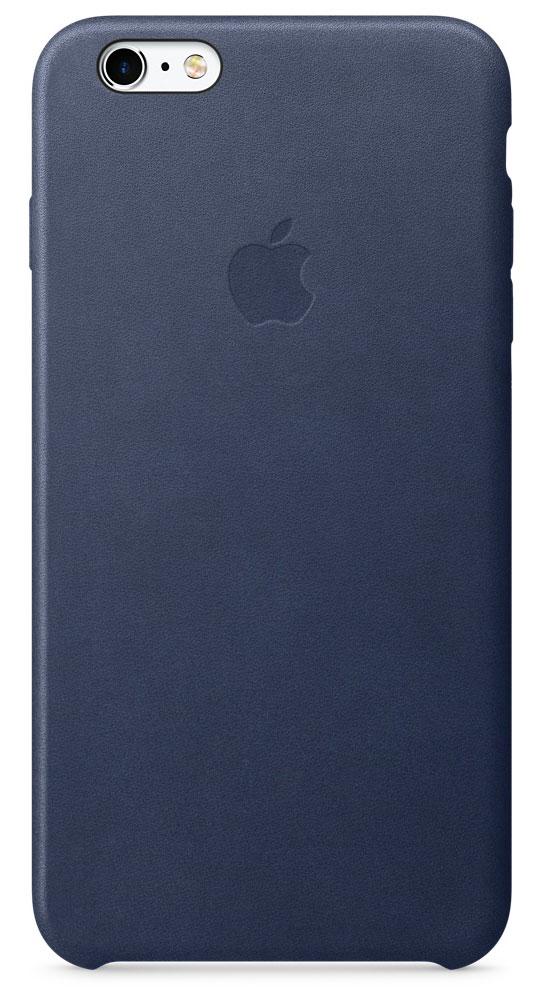 Apple Leather Case чехол для iPhone 6s Plus, Midnight BlueMKXD2ZM/AApple Leather Case - роскошный чехол, изготовленный из специально обработанной и выделанной кожи европейского производства и спроектированный теми же дизайнерами Apple, которые работали над iPhone. Каждый чехол идеально облегает телефон, поэтому ваш iPhone 6s Plus или iPhone 6 Plus по-прежнему будет выглядеть невероятно тонким. Мягкая внутренняя поверхность чехла, выполненная из микроволокна, защитит корпус вашего iPhone. А его внешняя сторона порадует вас глубоким оттенком: специальная технология окраски позволяет цвету буквально проникать в структуру кожи.