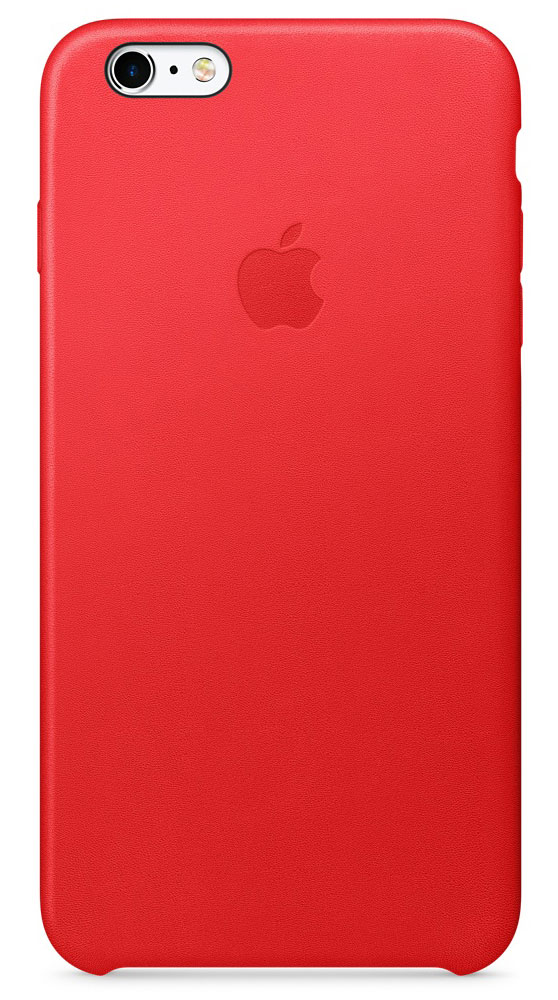 Apple Leather Case чехол для iPhone 6s Plus, Red