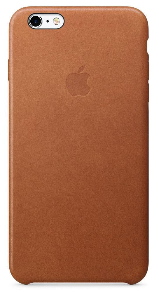 Apple Leather Case чехол для iPhone 6s Plus, Saddle BrownMKXC2ZM/AApple Leather Case - роскошный чехол, изготовленный из специально обработанной и выделанной кожи европейского производства и спроектированный теми же дизайнерами Apple, которые работали над iPhone. Каждый чехол идеально облегает телефон, поэтому ваш iPhone 6s Plus или iPhone 6 Plus по-прежнему будет выглядеть невероятно тонким. Мягкая внутренняя поверхность чехла, выполненная из микроволокна, защитит корпус вашего iPhone. А его внешняя сторона порадует вас глубоким оттенком: специальная технология окраски позволяет цвету буквально проникать в структуру кожи.