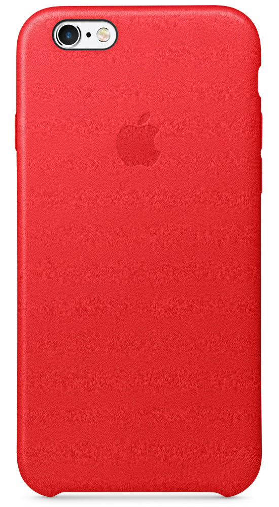Apple Leather Case чехол для iPhone 6s, Red