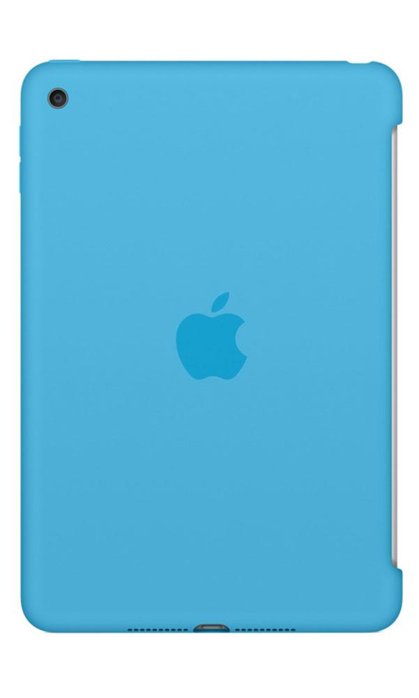 Apple Silicone Case чехол для iPad mini 4, BlueMLD32ZM/AСиликоновый чехол защищает заднюю поверхность iPad mini 4 и идеально совместим со Smart Cover, чтобы ваше устройство было в безопасности с обеих сторон. Чехол с гладкой силиконовой поверхностью очень приятен на ощупь и надёжно оберегает iPad mini 4, сохраняя его корпус таким же тонким и изящным.