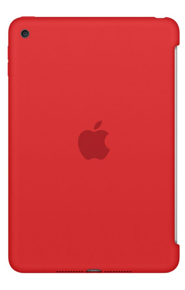 Apple Silicone Case чехол для iPad mini 4, RedMKLN2ZM/AСиликоновый чехол защищает заднюю поверхность iPad mini 4 и идеально совместим со Smart Cover, чтобы ваше устройство было в безопасности с обеих сторон. Чехол с гладкой силиконовой поверхностью очень приятен на ощупь и надёжно оберегает iPad mini 4, сохраняя его корпус таким же тонким и изящным.