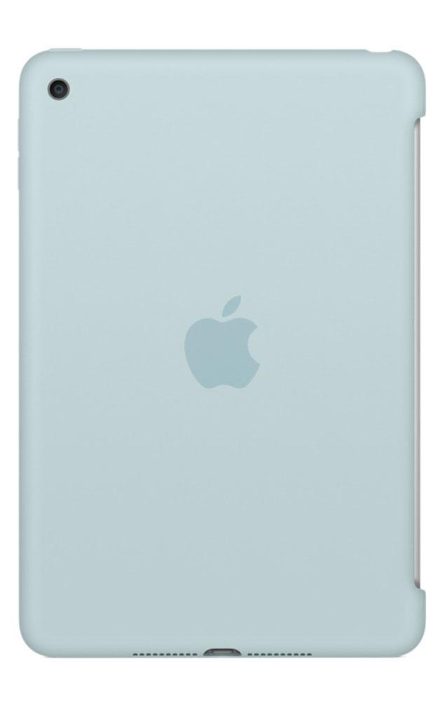 Apple Silicone Case чехол для iPad mini 4, TurquoiseMLD72ZM/AСиликоновый чехол защищает заднюю поверхность iPad mini 4 и идеально совместим со Smart Cover, чтобы ваше устройство было в безопасности с обеих сторон. Чехол с гладкой силиконовой поверхностью очень приятен на ощупь и надёжно оберегает iPad mini 4, сохраняя его корпус таким же тонким и изящным.
