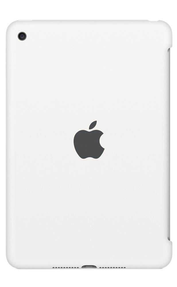 Apple Silicone Case чехол для iPad mini 4, WhiteMKLL2ZM/AСиликоновый чехол защищает заднюю поверхность iPad mini 4 и идеально совместим со Smart Cover, чтобы ваше устройство было в безопасности с обеих сторон. Чехол с гладкой силиконовой поверхностью очень приятен на ощупь и надёжно оберегает iPad mini 4, сохраняя его корпус таким же тонким и изящным.