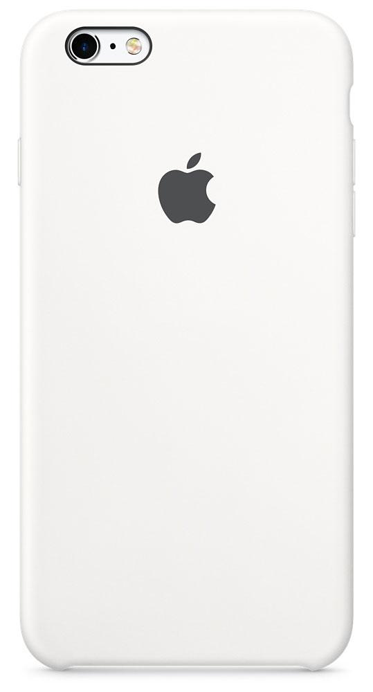 Apple Silicone Case чехол для iPhone 6s Plus, WhiteMKXK2ZM/AApple Silicone Case плотно прилегает к кнопкам управления громкостью и режима сна. Он точно повторяет контуры iPhone 6s Plus и iPhone 6 Plus, поэтому телефон не выглядит громоздким. Мягкая внутренняя поверхность чехла, выполненная из микроволокна, защитит корпус вашего iPhone. А внешняя поверхность с шелковистой силиконовой отделкой очень приятна на ощупь.