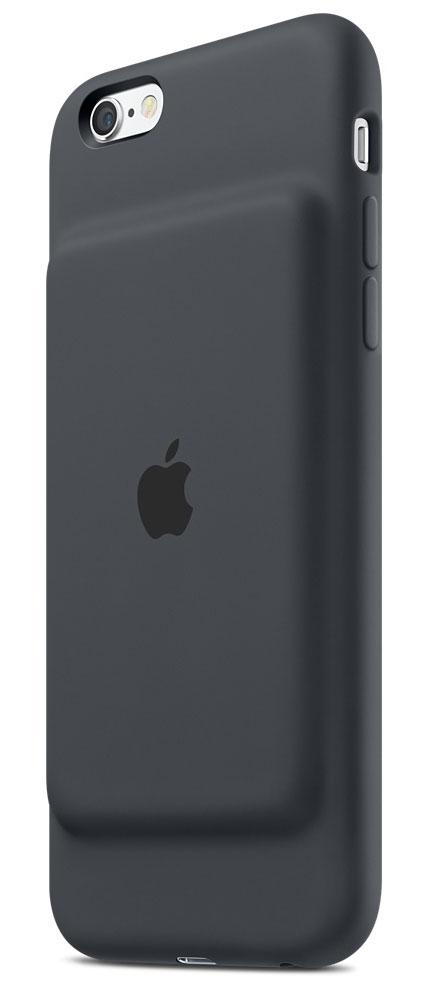 Apple Smart Battery Case чехол-аккумулятор для iPhone 6s, Charcoal GrayMGQL2ZM/AЧехол Apple Smart Battery Case разработан специально для увеличения заряда аккумулятора и защиты iPhone 6s и iPhone 6. Мягкая подкладка из микроволокна защищает корпус вашего iPhone, а благодаря шарнирной конструкции из эластомерного материала чехол легко снимать и надевать. Внешняя силиконовая поверхность чехла очень приятна на ощупь.Заряжайте свой iPhone и чехол с аккумулятором одновременно. Вы получите возможность до 25 часов говорить по телефону, до 18 часов работать в интернете через LTE, ещё дольше слушать музыку и смотреть видео. Когда iPhone находится в чехле Smart Battery Case, на экране блокировки и в Центре уведомлений отображается индикатор аккумулятора с точными данными об остатке заряда.Чехол с аккумулятором поддерживает аксессуары с разъёмом Lightning, например кабель Lightning/USB (входит в комплект поставки iPhone). Его также можно использовать с док-станцией для iPhone с разъемом Lightning (продается отдельно). Выберите один из двух прекрасных цветов.При работе в интернете: до 18 часов в сети LTEВ режиме воспроизведения видео: до 20 часов