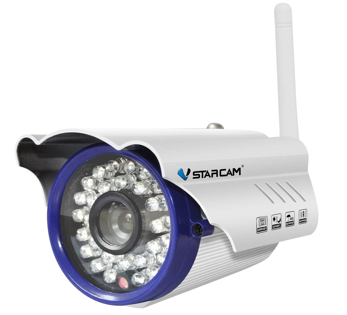 Vstarcam C7815WIP IP камера1600000360082Беспроводная WiFi IP камера Vstarcam C7815WIP - это хорошее сочетание цены, качества и надежности. Герметичный корпус позволяет использовать камеру на улице при температурах до -20 градусов. Ик подсветка до 15 метров дает возможность использовать камеру круглосуточно. Подключить и настроить камеру очень легко, это делается по беспроводной сети WiFi или по сетевому кабелю. Внешняя съемная антенна Wifi позволяет получать устойчивый сигнал на расстоянии до 50 метров, также, есть возможность использовать другие, более сильный WiFi антенны Камера Vstarcam C7815WIP можем быть подключена к регистратору или сервису видеонаблюдения по протоколу Onvif или RTSP, что позволяет использовать ее в составе комплексных систем видеонаблюдения.Камера поддерживает сжатие видеоизображения в кодек H.264, что делает объем потока существенно меньше, чем при использовании jpeg сжатия.Vstarcam C7815WIP - это HD камера с разрешением 1280 на 720 пикс и отличным качеством картинки.Одновременный просмотр: 4 пользователяПитание: 12 ВМаксимальный объем карты памяти: 64 ГБ