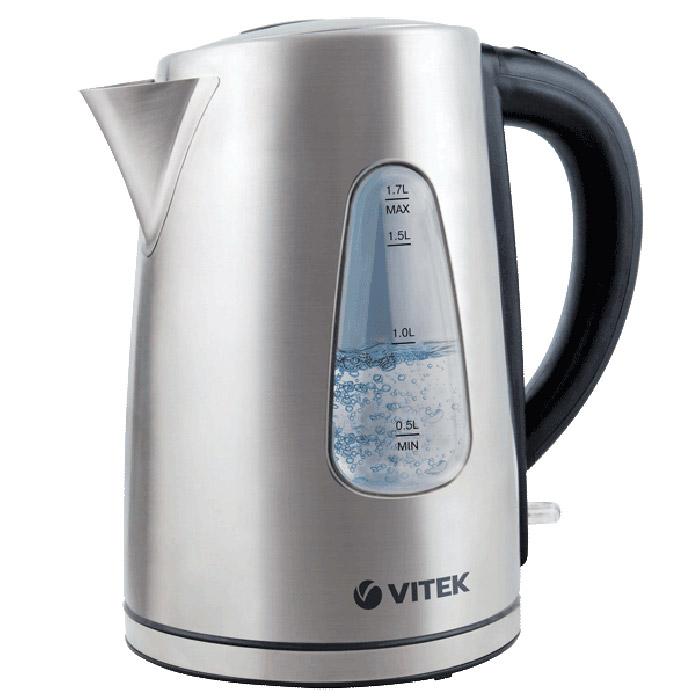 Vitek VT-7007(ST) электрический чайникVT-7007(ST)Ни одна современная кухня не обходится без надежного электрочайника. При помощи Vitek VT-7007(ST) вы быстро вскипятите или подогреете воду для приготовления любимых горячих напитков. Важно, чтобы чайник соответствовал вашим потребностям: он должен быть функциональным, технологичным, надежным, а также практичным и стильным.Чайник Vitek VT-7007(ST) отличается высокой надежностью и безопасностью. Он изготовлен из качественных материалов и комплектующих, обеспечивающих большой срок службы приборов. Все используемые материалы безопасны для человека даже при воздействии на них высоких температур. Электрочайник Vitek VT-7007(ST) отличается долгим сроком эксплуатации, а также точностью исполнения заданных программ.