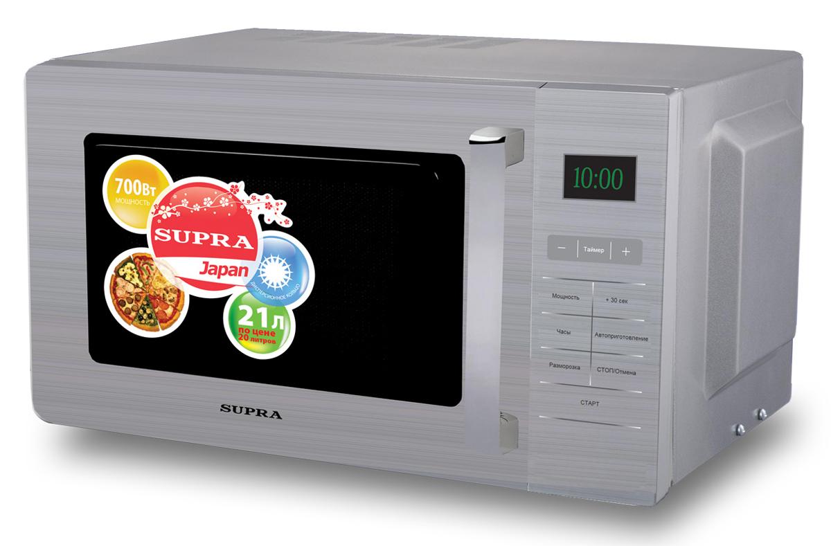 Supra MWS-2103SS микроволновая печь шашлычницы supra шашлычница supra vgs 2103 1500вт
