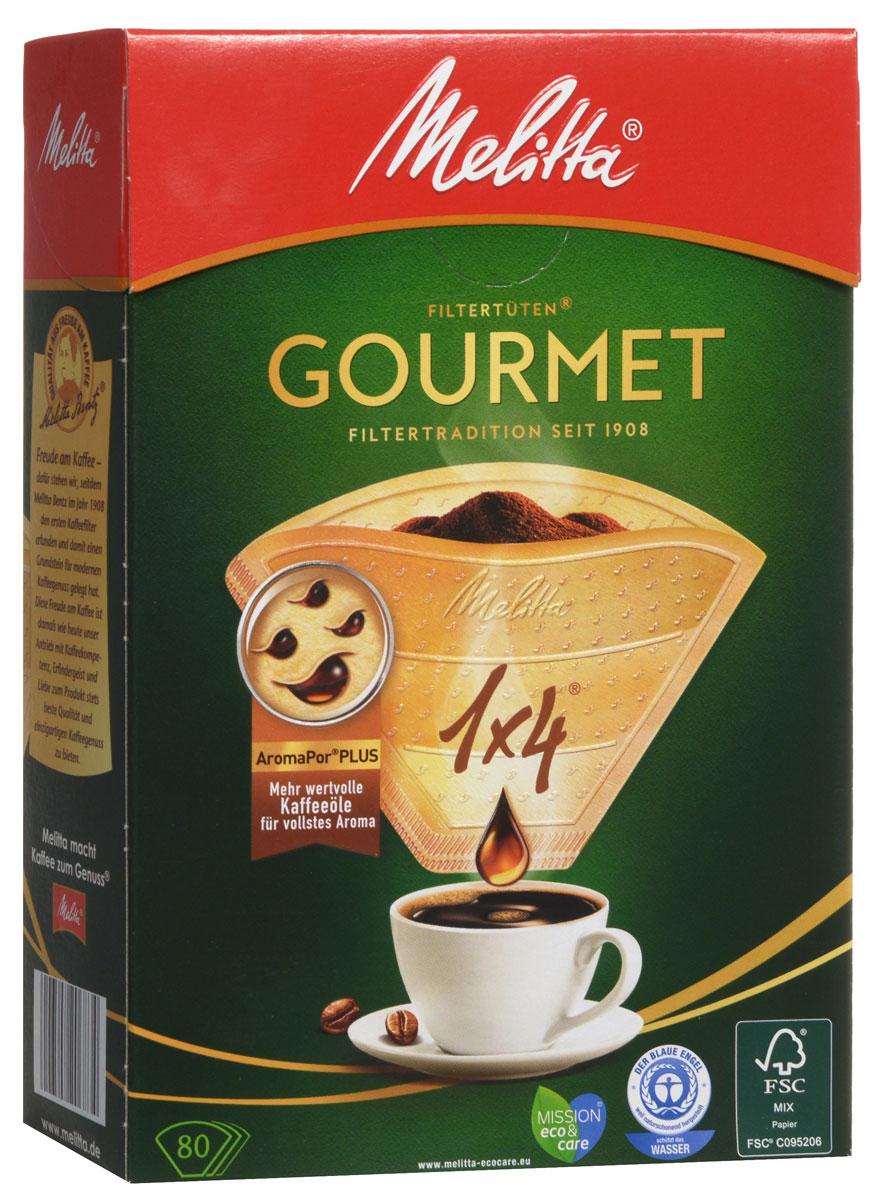 Melitta Gourmet фильтры для заваривания кофе, 1х4/800100970Кофе-фильтры Melitta Gourmet - это новый уровень наслаждения полным букетом завариваемого кофе. Инновационные ароматические поры Plus усиливают прохождение нежных кофейных масел, являющихся носителями более чем 800 кофейных ароматов, и повышают ароматность напитка. Каждая из трех ароматических зон состоит из разного количества ароматических пор, что приводит к оптимальному раскрытию аромата. Так вы всегда наслаждаетесь совершенным вкусом вашего любимого кофе.Размер: 1x4Оптимальное раскрытие ароматаВысочайшая степень фильтрацииЧрезвычайно прочный двойной шов