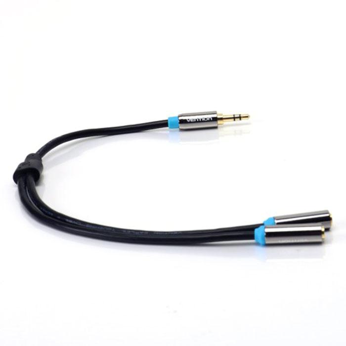 Vention Jack 3.5 mm-Jack 3.5 mm разветвитель гибкийVAB-C01-BРазветвитель Vention предназначен для передачи аналоговых стереозвуковых сигналов между аудио, аудио-видео и (или) компьютерными устройствами или их компонентами. Вы можете подключить компьютер (ноутбук), MP3-плеер или смартфон к гарнитуре, активным акустическим системам и прочей мультимедийной технике.Контакты: 24К позолоченные, коррозийно-стойкиеИнтерфейс: стереоТип оболочки: ПВХ - экранированный(фольга)Материал проводника: чистая бескислородная медь