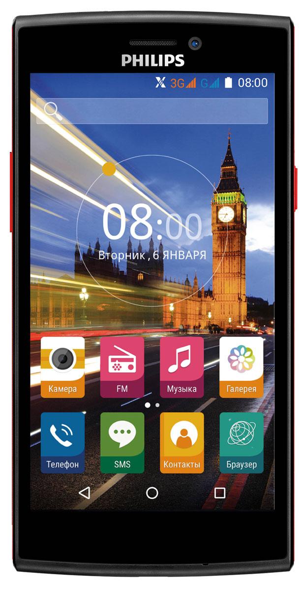 Philips S337, Black Red8712581736538Philips S337 – удивительное сочетание интересного дизайна, производительной начинки и свежей версии ОС Android - и все это по привлекательной цене.Четырехъядерный процессор с частотой 1.3 ГГц и 1 ГБ оперативной памяти позволяют работать с требовательными к ресурсам устройства играми и приложениями из каталога приложений Google Play Market, а ОС Android 5.1 обеспечит простое и интуитивно понятное управление всеми функциями смартфона на большом экране 5. Наконец, поддержка двух SIM-карт гарантирует бесперебойную связь, как с коллегами, так и с близкими людьми.Основная камера 5 Мпикс с автофокусом и вспышкой позволит запечатлеть памятные моменты или важную информацию, уловив самые тонкие детали, фронтальная же камера придется очень кстати для видео-звонков.Поддержка технологии Miracast позволит мгновенно просмотреть отснятые фотографии и видеоролики на большом экране совместимого ТВ без лишних проводов. Приятным дополнением станет поддержка интеллектуального режима энергосбережения X- Power tech, основанном на запатентованной технологии PowerXtend от компании Lucidlogix (Lucid), позволяющим значительно снизить энергопотребление при запуске игровых и графических приложений, вэб-серфинге и GPS-навигации.Благодаря алгоритмам оптимизации работы с графическим процессором, пользователь может сэкономить до 15% расходуемого заряда аккумулятора. В сочетании с аккумулятором емкостью 2000 мАч, режим интеллектуального энергосбережения позволит телефону продержаться без подзарядки даже в течение самого насыщенного дня.Телефон сертифицирован Ростест и имеет русифицированный интерфейс меню, а также Руководство пользователя.