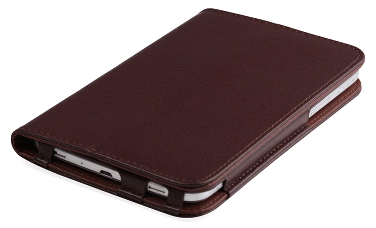 IT Baggage чехол для Lenovo IdeaTab 2 A7-20, BrownITLNA722-2Чехол IT Baggage для Lenovo IdeaTab 2 A7-20 - это стильный и лаконичный аксессуар, позволяющий сохранить планшет в идеальном состоянии. Надежно удерживая технику, обложка защищает корпус и дисплей от появления царапин, налипания пыли. Также чехол можно использовать как подставку для чтения или просмотра фильмов. Имеет свободный доступ ко всем разъемам устройства.